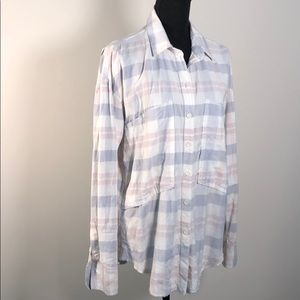 Free People oversized button down